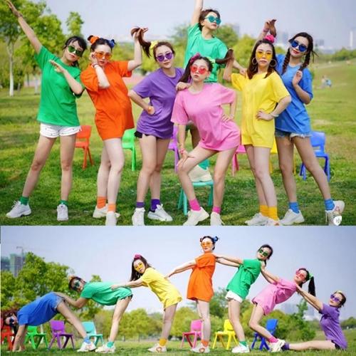 公司团队活动文化衫用哪个色彩好看!