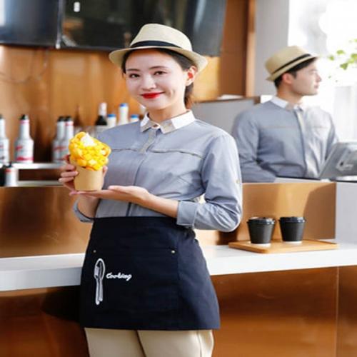 适合餐厅服务员穿的衣服图片!