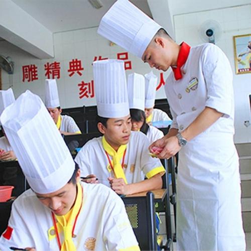 高档厨师长工作服图片