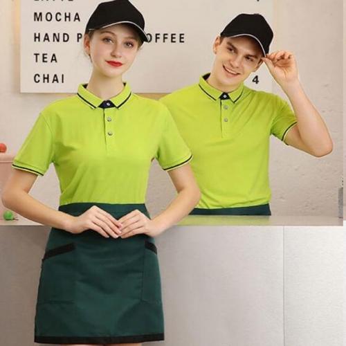 快餐店工作服t恤款式图片