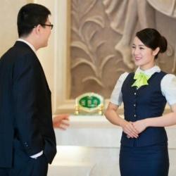 维也纳酒店前台服务员工作服图片